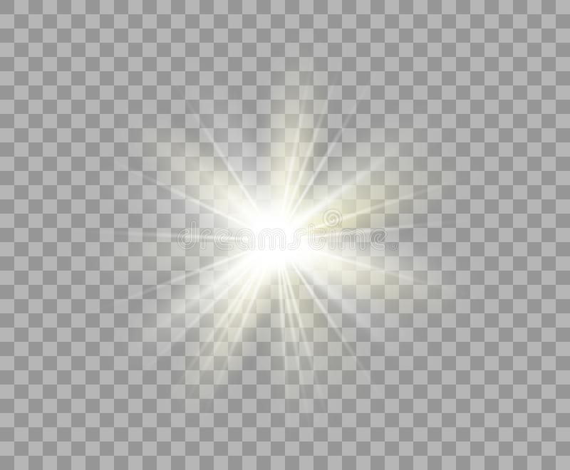 Stella Di Natale Luce.Luce Trasparente Luminosa Bianca Stella Di Natale Di Vettore Un