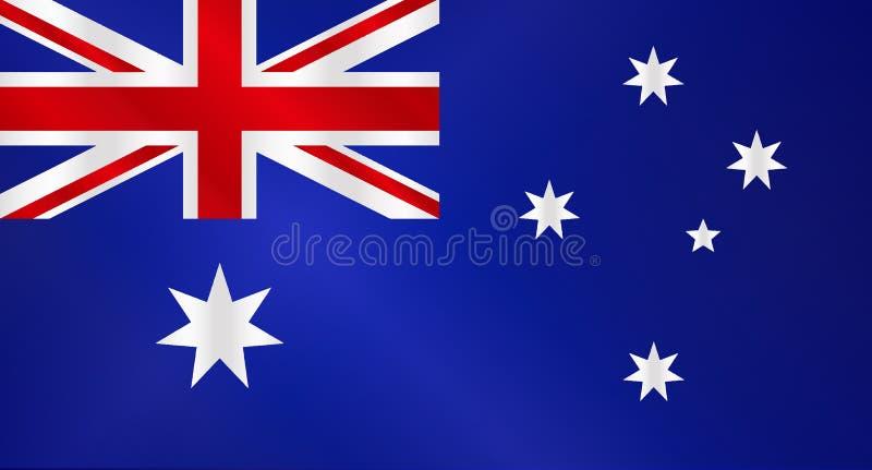 Lucentezza australiana della bandiera illustrazione di stock