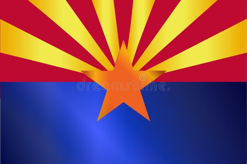 Lucentezza della bandiera dello stato dell'Arizona illustrazione di stock