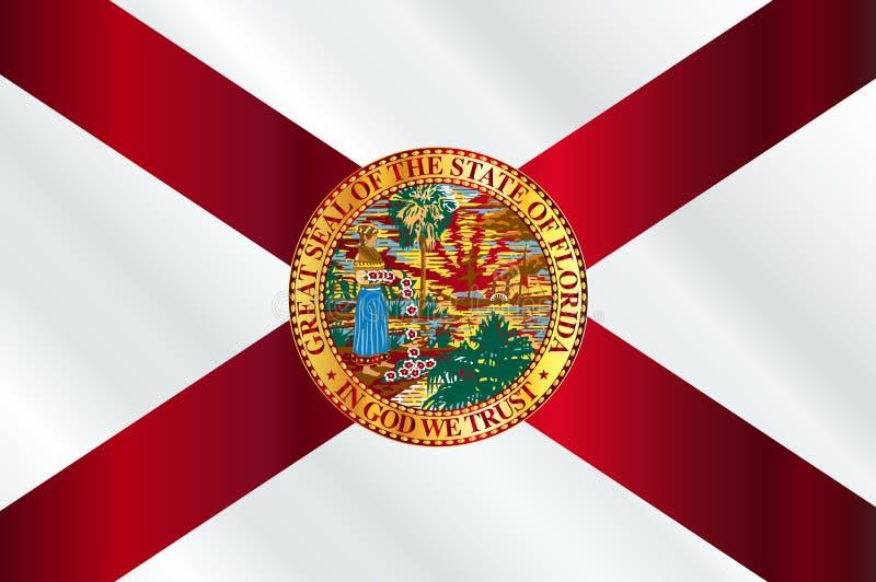 Lucentezza della bandiera dello stato di Florida illustrazione di stock