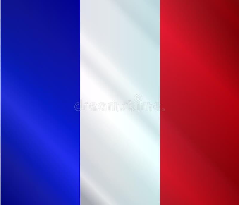 Lucentezza francese della bandiera di lerciume illustrazione vettoriale