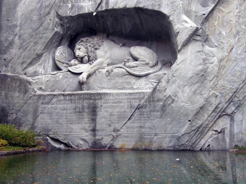 Lucerna: barwiarski lwa zabytek fotografia stock