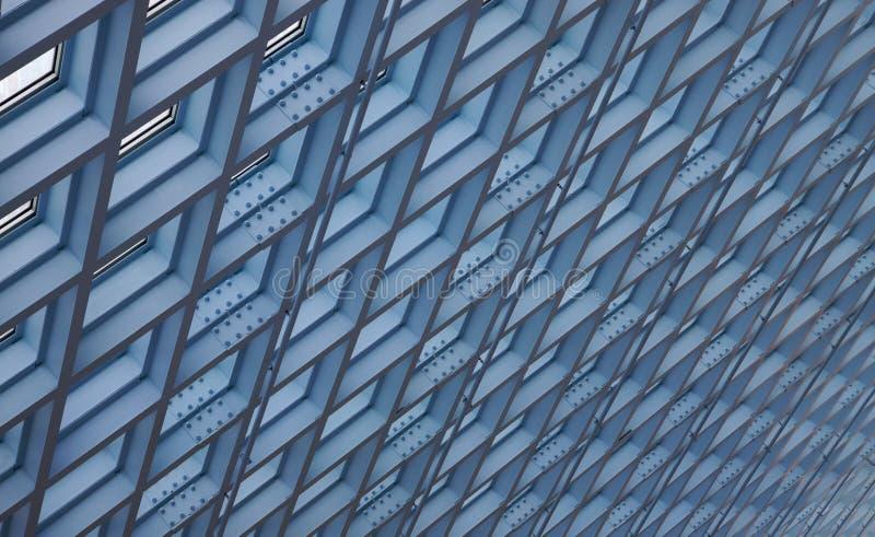 Lucernari sostenuti del soffitto fotografia stock