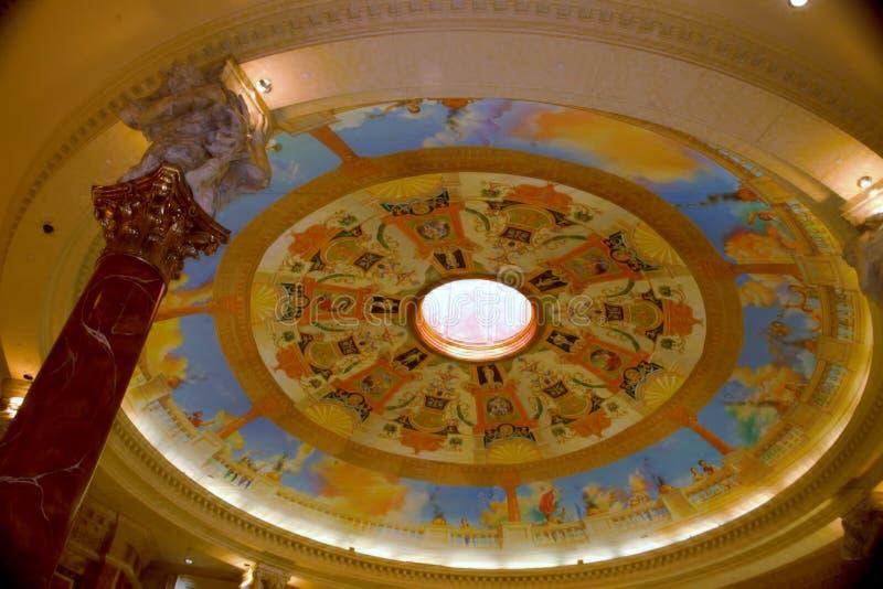 Lucernario del Caesars Palace fotografia stock