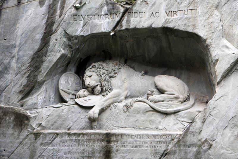 lucerne льва стоковое фото rf