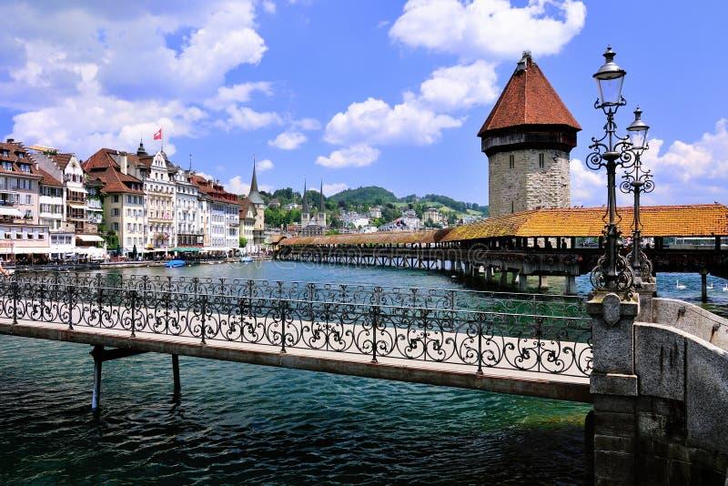Lucerne i Schweiz arkivfoton