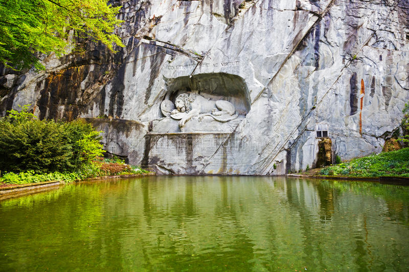 Lucerne, monument of Dying Lion royalty free stock photo