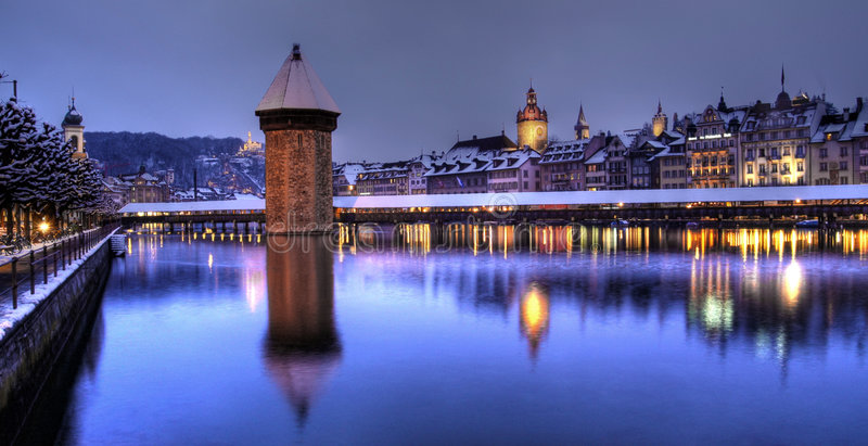 lucerne panorama- switzerland royaltyfria foton