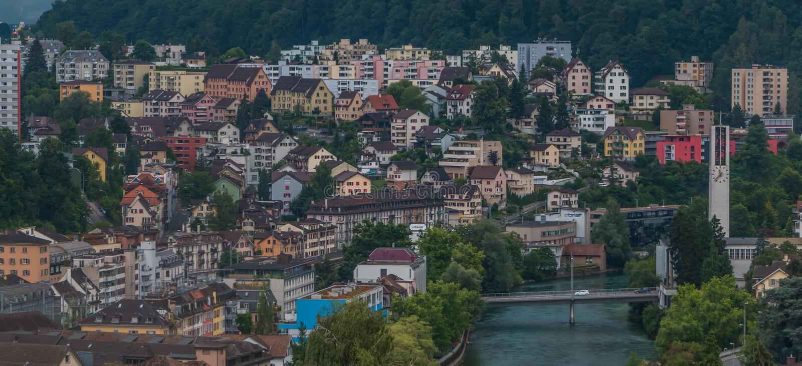 Lucerne Suburbs Coexistence royalty free stock photo