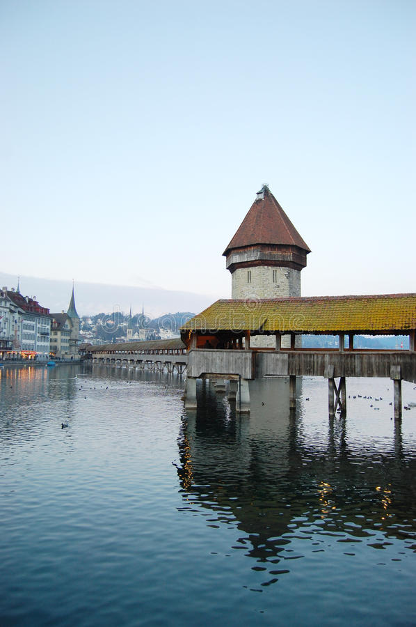 Lucerne tower royalty free stock photography