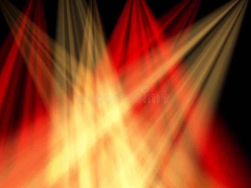 Luces ámbar rojas y stock de ilustración