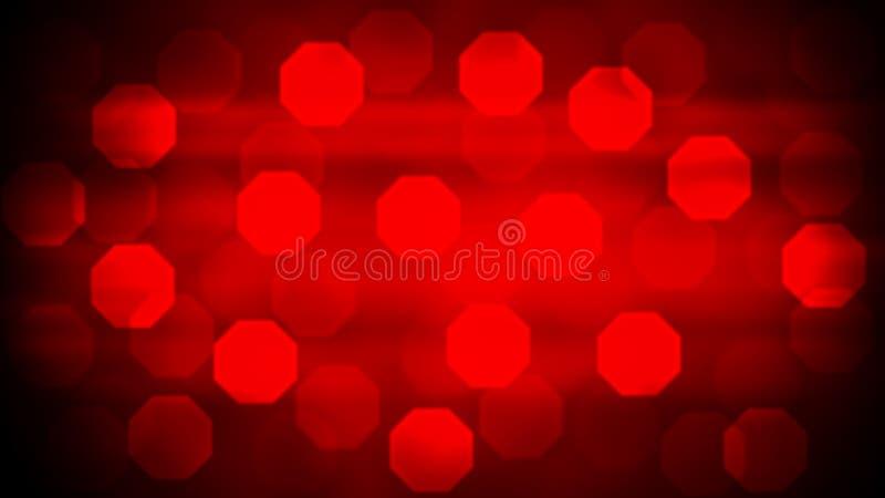Luces abstractas Bokeh en fondo rojo de la pendiente ilustración del vector