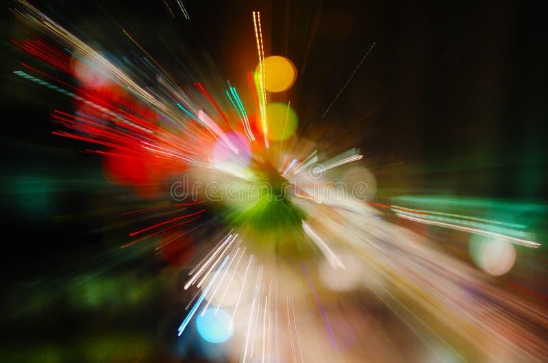 Luces abstractas de la ciudad imágenes de archivo libres de regalías