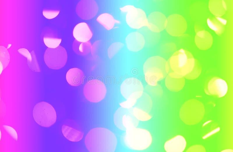 Luces abstractas del arco iris imagenes de archivo