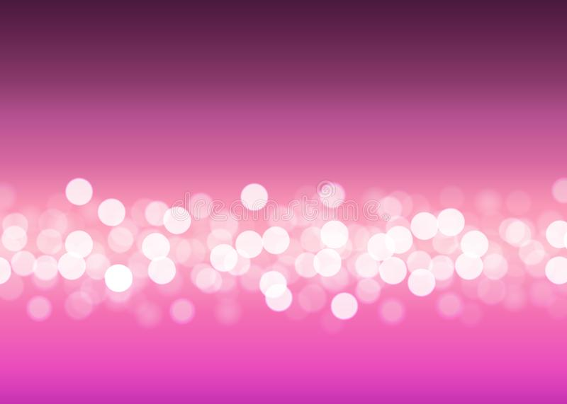 Luces abstractas del bokeh en fondo rosado libre illustration