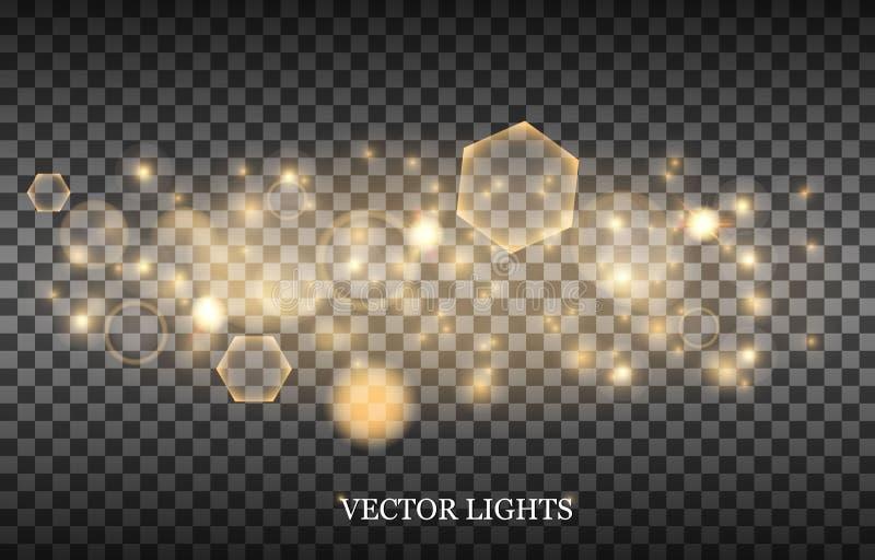 Luces abstractas ligeras del bokeh que brillan intensamente libre illustration