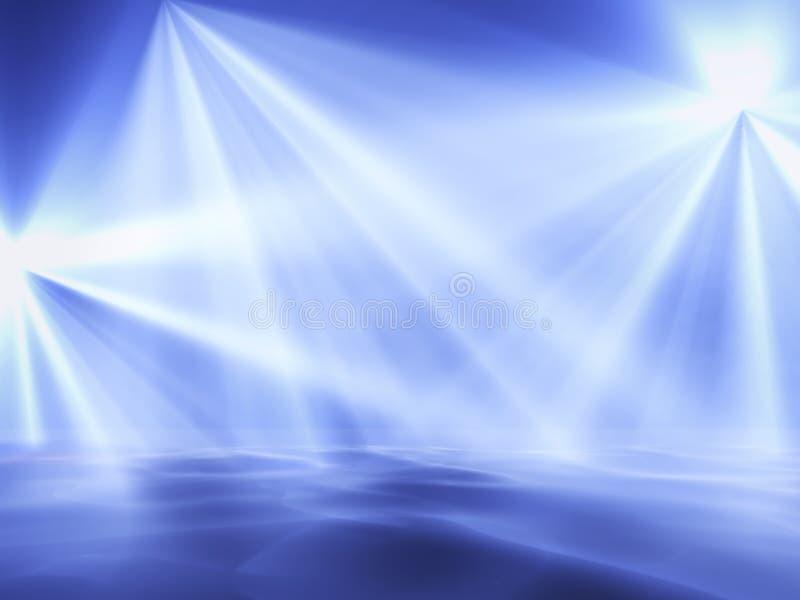 Luces azules ilustración del vector
