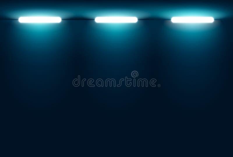 Luces azules en la noche libre illustration