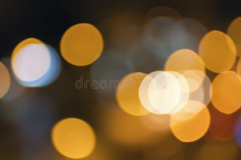 Luces borrosas extracto de la ciudad de la noche concepto de los fondos de la falta de definición Falta de definición del paisaje foto de archivo