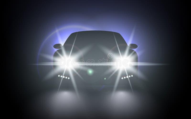 Luces brillantes del tren del vector para su diseño ilustración del vector