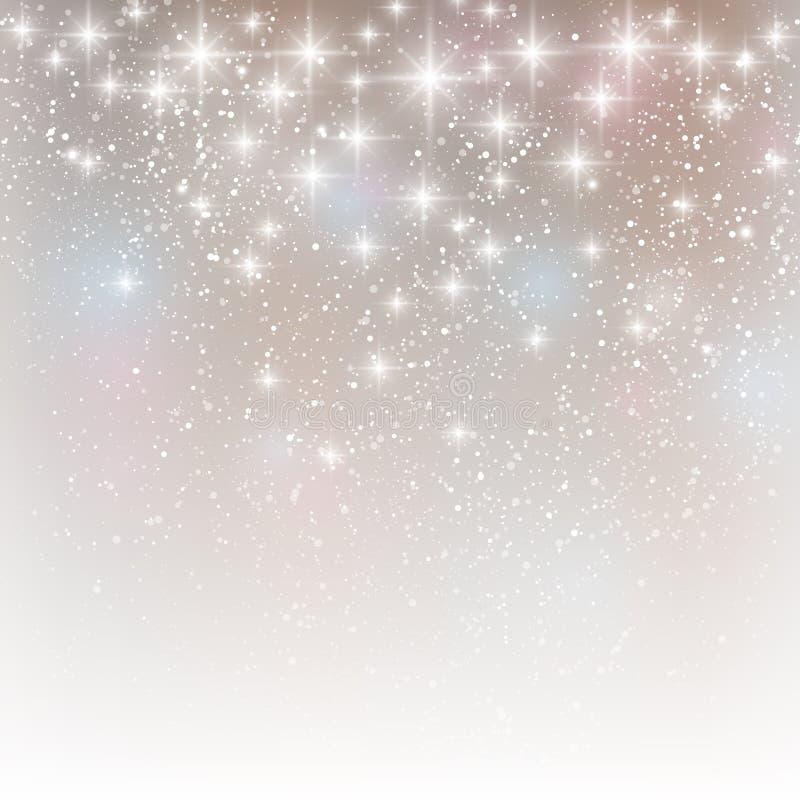 Luces brillantes en la plata ilustración del vector