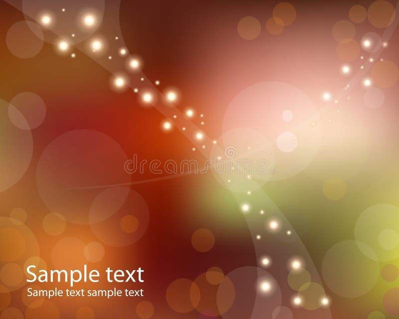 Luces calientes en espacio stock de ilustración