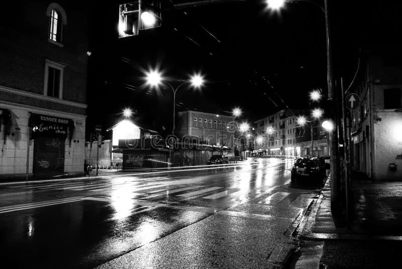 Luces chispeantes de la ciudad foto de archivo libre de regalías
