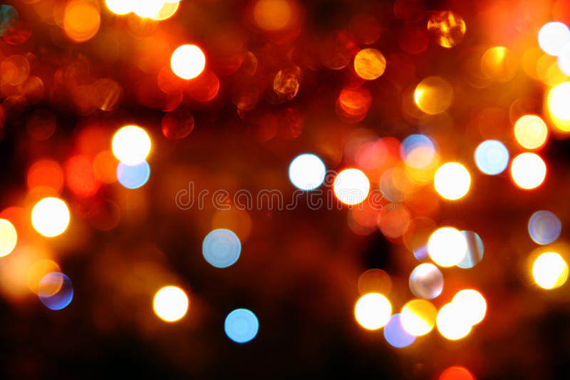 Luces circulares coloreadas Defocused imagenes de archivo