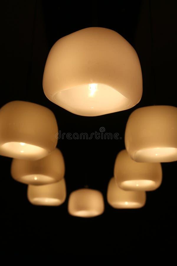 Luces colgantes foto de archivo libre de regalías