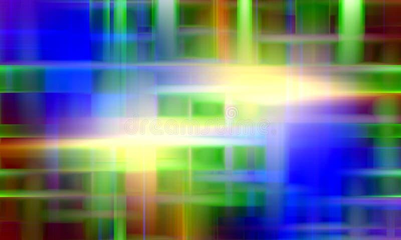 Luces coloreadas, fondo abstracto azul rojo del verde del extracto stock de ilustración