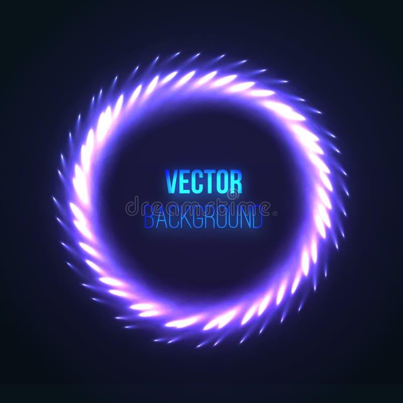 Luces coloridas abstractas del fuego artificial Vector ilustración del vector