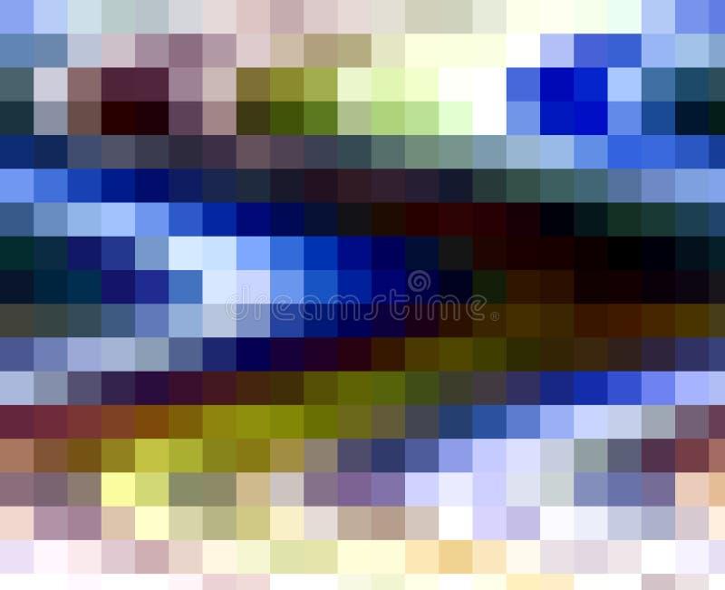 Luces coloridas de las geometrías de los cuadrados de la violeta fosforescente blanca oscura púrpura viva, fondo abstracto libre illustration