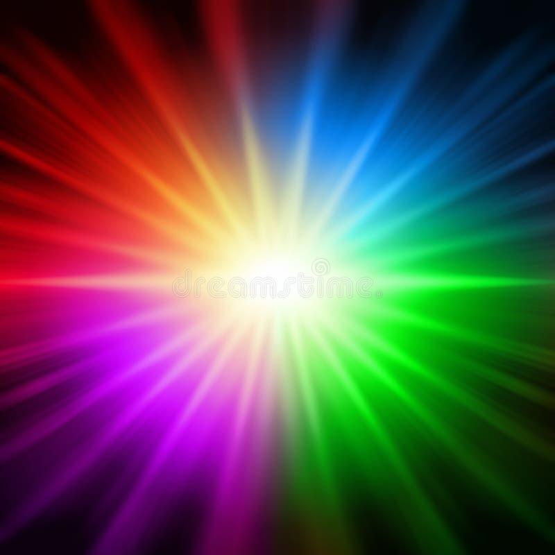 Luces coloridas del arco iris ilustración del vector
