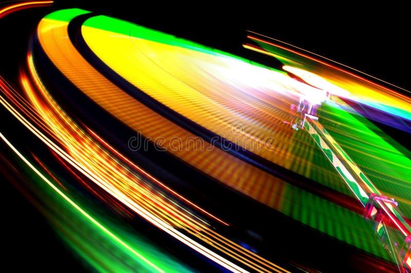 Luces coloridas del Funfair   foto de archivo libre de regalías
