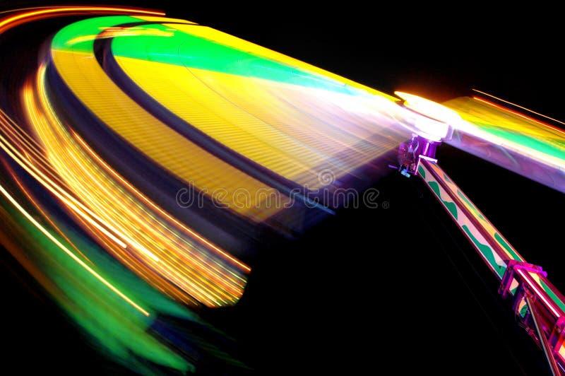Luces coloridas en el Funfair imágenes de archivo libres de regalías