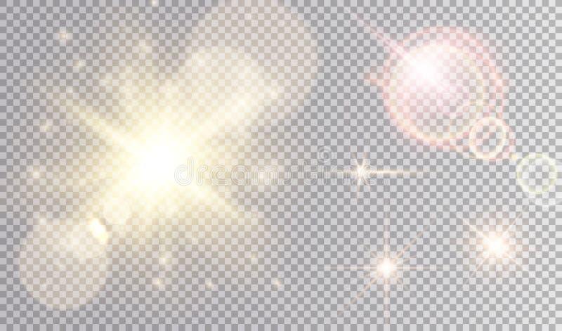 Luces coloridas fijadas ilustración del vector