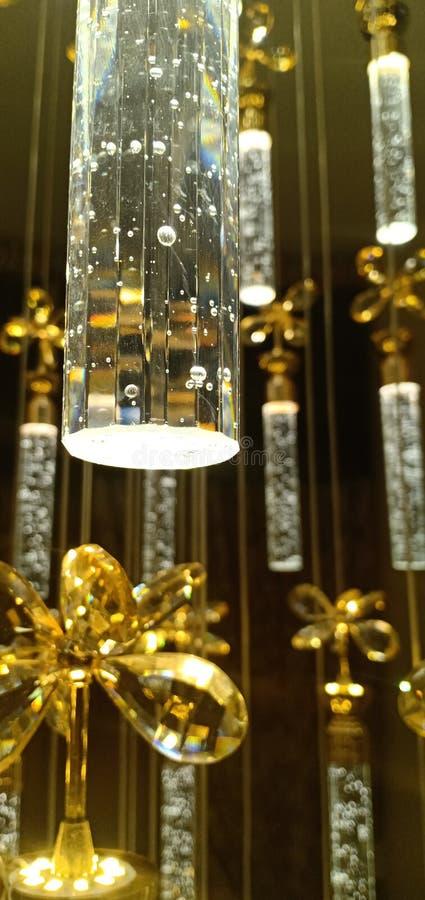 Luces cristalinas de las lámparas imagen de archivo