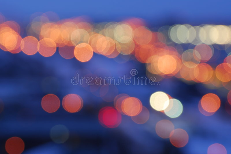 Luces de calle de la ciudad imagen de archivo