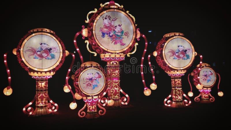 Luces de China del parque zoológico de Amberes fotografía de archivo libre de regalías