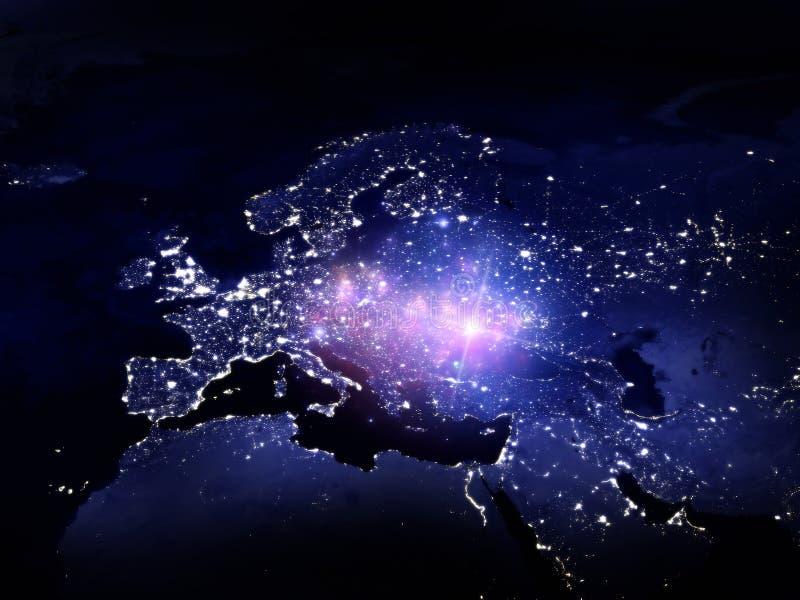 Luces de Europa stock de ilustración