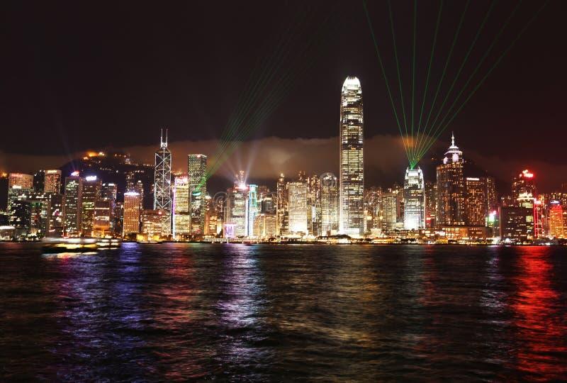 Luces de Hong Kong imágenes de archivo libres de regalías