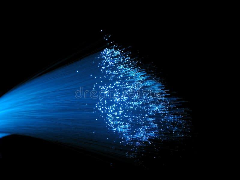 Luces de la óptica de fibras imagen de archivo