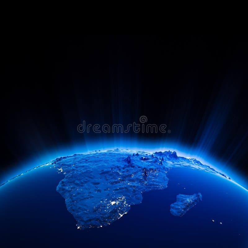 Download Luces De La Ciudad De África En La Noche Stock de ilustración - Ilustración de áfrica, gráfico: 42439696