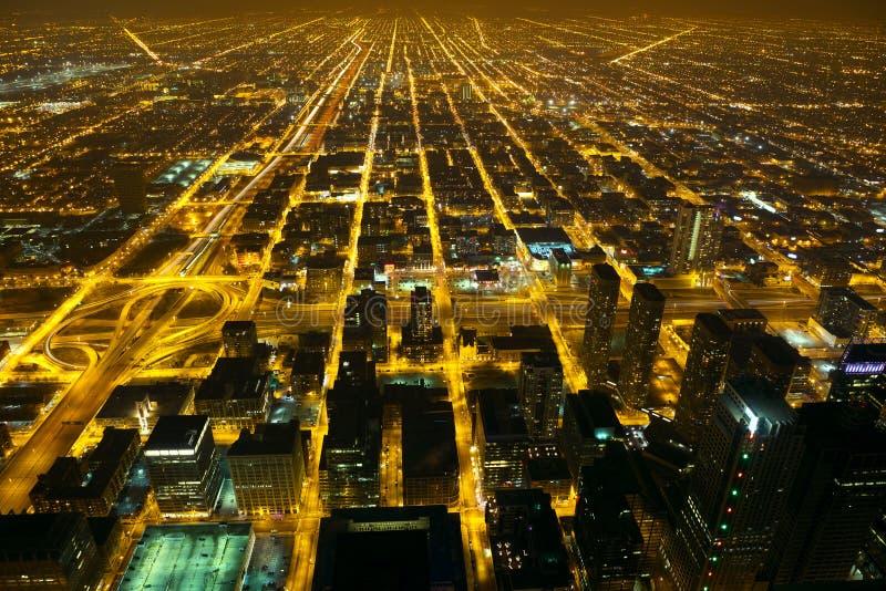 Luces de la ciudad de la noche imágenes de archivo libres de regalías