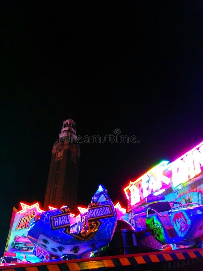 Luces de la ciudad de la noche foto de archivo