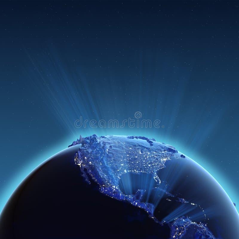 Luces de la ciudad de Norteamérica ilustración del vector