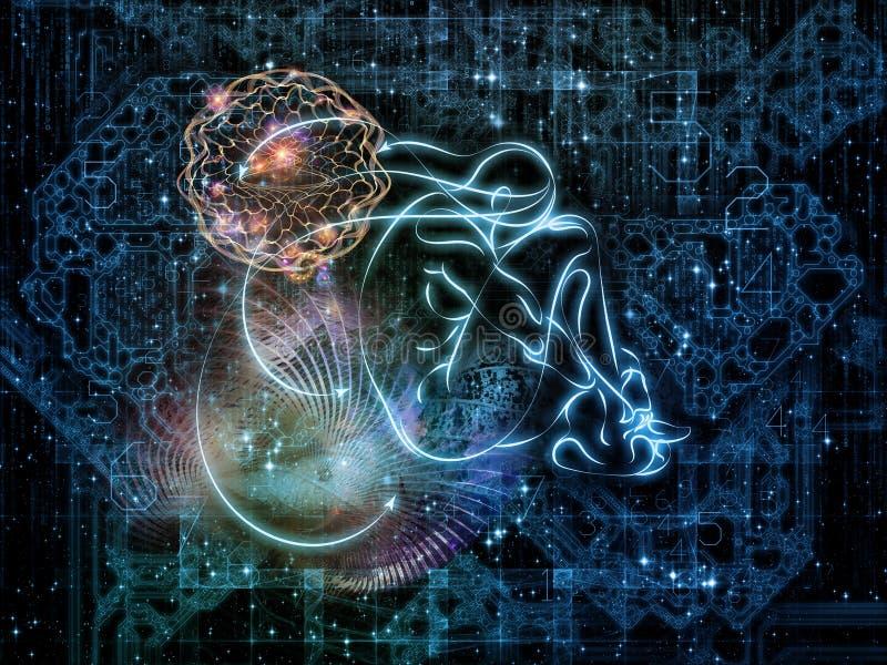 Luces de la conexión libre illustration
