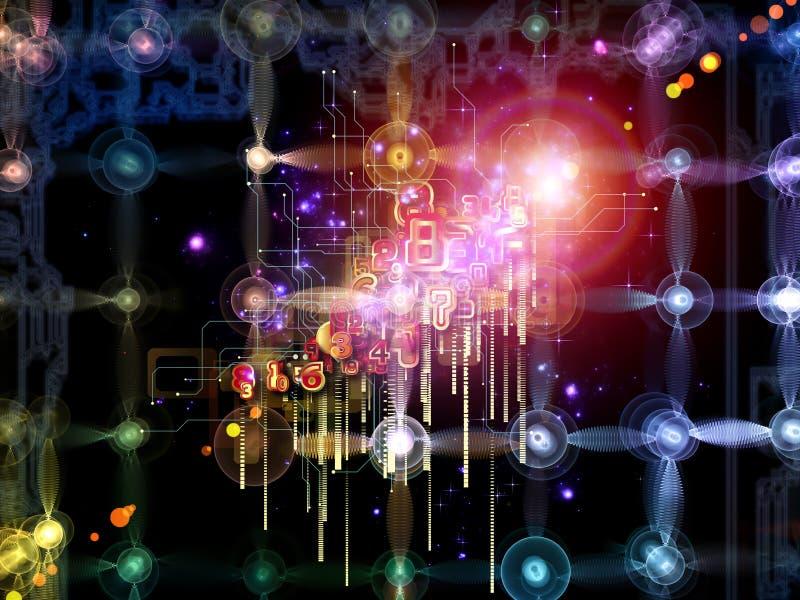 Luces de la conexión ilustración del vector