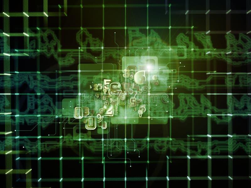 Luces de la conexión stock de ilustración