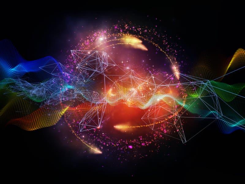 Luces de la corriente de la información ilustración del vector